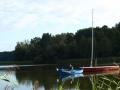Katamaran i łódka