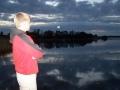 Zachód słońca nad jeziorem Selmęt Wielki