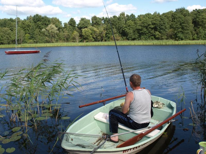 Połów z łódki